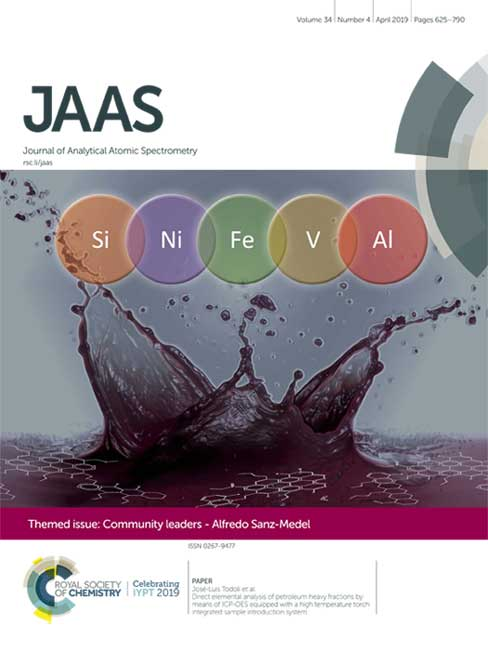Portada interior del número 34 de Journal of Analytical Atomic Spectrometry